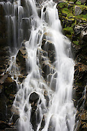 Myrtle Falls on Edith Creek, Paradise Meadows, Mount Rainier NP, WA, USA (image captured with a long shutter speed to give a silken effect to the water motion)