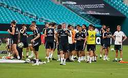 July 30, 2018 - Miami Gardens, Florida, USA - Real Madrid C.F. players take a break during an open training session for the International Champions Cup match between Real Madrid C.F. and Manchester United F.C. at the Hard Rock Stadium in Miami Gardens, Florida. (Credit Image: © Mario Houben via ZUMA Wire)