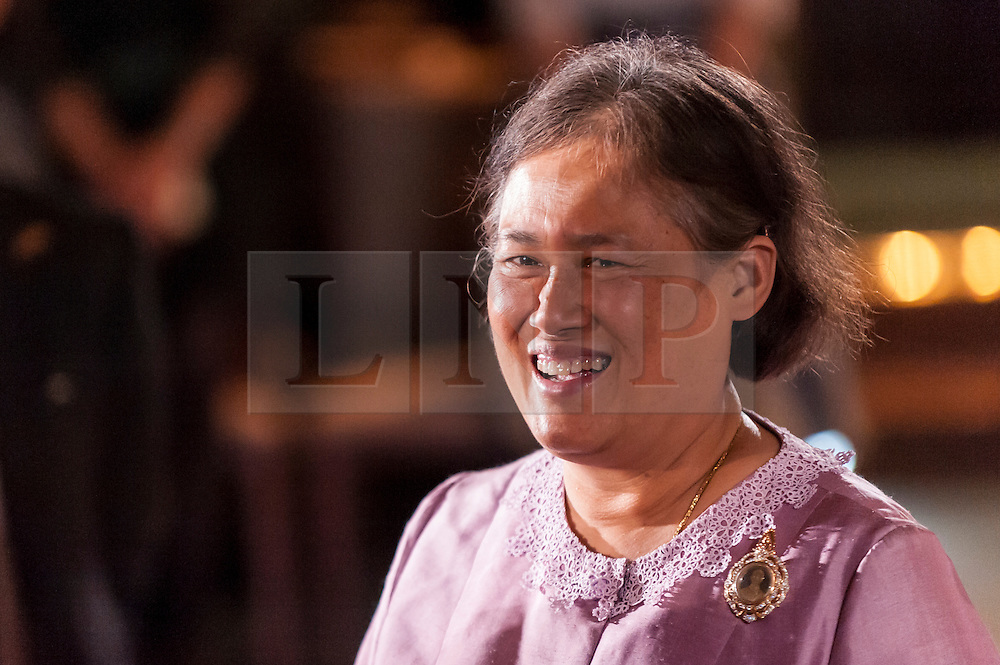 © Licensed to London News Pictures.**File picture. Following the death of the world's longest reigning monarch, King Bhumibol Adulyadej, his daughter PRINCESS MAHA CHAKRI SIRINDHORN OF THAILAND is a potential successor to the throne.**  File pic dated 23/11/2015. London, UK.  A Thai classical music concert takes place at Senate House, University of London, in celebration of the 60th birthday of Her Royal Highness Princess Maha Chakri Sirindhorn of Thailand (pictured). Photo credit : Stephen Chung/LNP