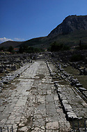 A Roman Road Ancient Corinth in Ancient Corinth.
