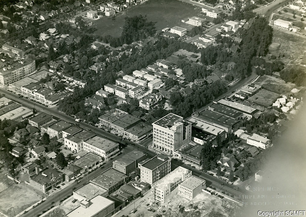 1922 Aerial of Hollywood Blvd. & Cahuenga Ave.