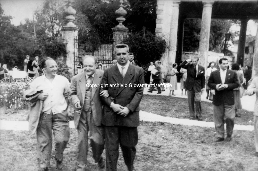 Luciano Anceschi, Giuseppe Ungaretti, Carlo Bo<br />archivio Giovannetti/effigie