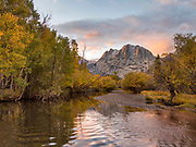 Rush Creek and Carson Peak in Fall, Inyo National Forest, Mono County, California