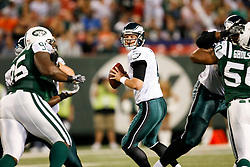 Philadelphia Eagles quarterback Kevin Kolb #4 during the NFL game between the Philadelphia Eagles and the New York Jets on September 3rd 2009. The Jets won 38-27 at Giants Stadium in East Rutherford, NJ.  (Photo By Brian Garfinkel)