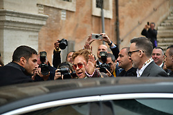 Rome, Gucci Parade at the Capitoline Museums. In the photo: Sir Elton John