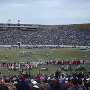 NEW HAVEN, CONNECTICUT - NOVEMBER 18: A general view during the Yale V Harvard, Ivy League Football match at the Yale Bowl. Yale won the game 24-3 to win their first outright league title since 1980. The game was the 134th meeting between Harvard and Yale, a historic rivalry that dates back to 1875. New Haven, Connecticut. 18th November 2017. (Photo by Tim Clayton/Corbis via Getty Images)