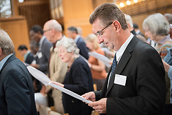 18 September 2017, Geneva, Switzerland: Morning prayers at the Ecumenical Centre in Geneva, as the World Council of Churches hosts a meeting of member churches' Ecumenical Officers.