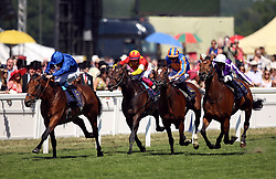 Old Persian ridden by jockey William Buick (left) wins the King Edward VII Stakes during day four of Royal Ascot at Ascot Racecourse.