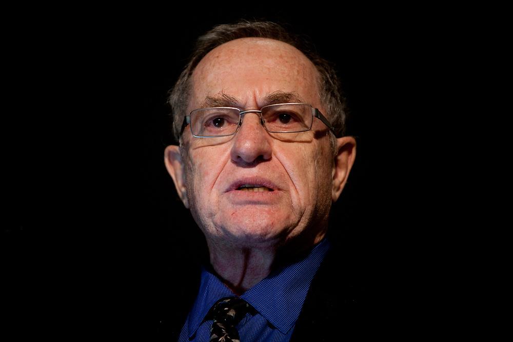 Prof. Alan Dershowitz speaks at the Menachem Begin Heritage Center in Jerusalem, Israel, on December 4, 2011.
