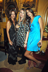 Left to right, sisters  JESSICA SIMON, CAMILLA SIMON and ZARA SIMON daughters of Peter Simonat a dinner hosted by fashion label Issa at Annabel's, Berekely Square, London on 24th April 2007.<br />