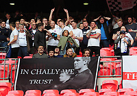 Football - 2019 Buildbase FA Trophy Final - AFC Fylde vs. Leyton Orient<br /> <br /> Fylde fans with a banner for their manager, Dave cChallinor, at Wembley Stadium.<br /> <br /> COLORSPORT/ANDREW COWIE