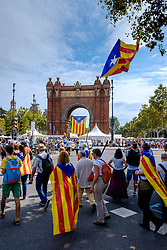 A scene in Barcelona Catalonia, Spain during the Catalan National Day celebrations for independence on 11th September 2015<br /> <br /> (c) Andrew Wilson | Edinburgh Elite media