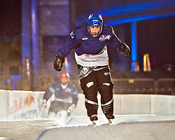 03-02-2012 SKATING: RED BULL CRASHED ICE WORLD CHAMPIONSHIP: VALKENBURG<br /> Valentijn Scheffe NED during a training session<br /> ©2012-FotoHoogendoorn.nl/Peter Schalk