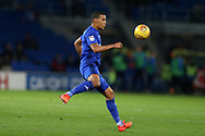 Lee Peltier of Cardiff City in action. EFL Skybet championship match, Cardiff city v Ipswich Town at the Cardiff city stadium in Cardiff, South Wales on Tuesday 31st October 2017.<br /> pic by Andrew Orchard, Andrew Orchard sports photography.