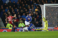 Ander Herrera of Manchester United shoots high of the goal. Premier league match, Everton v Manchester United at Goodison Park in Liverpool, Merseyside on Sunday 4th December 2016.<br /> pic by Chris Stading, Andrew Orchard sports photography.