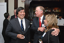 "Harold Hongju Koh and Dan Quayle at the Maurice R. ""Hank"" Greenberg Reception, 21 Club NYC 18 Sept 2007. Honoring the endowment of the David Boies Professorship of Law at Yale Law School."