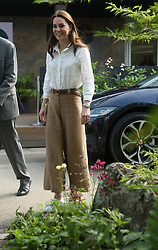 The Duchess of Cambridge arrives for a visit to the RHS Chelsea Flower Show at the Royal Hospital Chelsea, London.