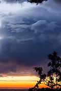 Gathering storm clouds over La Mesa