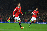 Wayne Rooney of Manchester United celebrates scoring his sides second goal - Manchester United vs. Hull City - Barclay's Premier League - Old Trafford - Manchester - 29/11/2014 Pic Philip Oldham/Sportimage
