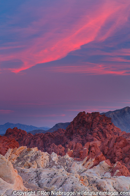 Silica Dome, Valley of Fire State Park, near Las Vegas, Nevada.