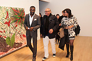 CHRIS OFILI; CESAR REYES; MIMA REYES, Chris Ofili private view for the opening of his exhibition. Tate. London. 25 January 2010