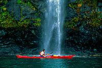 Sea kayaking on Prince William Sound, near Whittier, Alaska