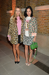 Left to right, HARLEY VIERA NEWTON and LEIGH LEZARK at the Future Contemporaries Party in association with Coach at The Serpentine Sackler Gallery, West Carriage Drive, Kensington Gardens, London on 21st February 2015.