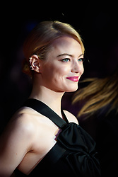 Emma Stone attending the premiere of Killing of a Sacred Deer, as part of the BFI London Film Festival, at the Odeon cinema in Leicester Square, London. Picture date: Thursday October 12th, 2017. Photo credit should read: Matt Crossick/ EMPICS Entertainment.