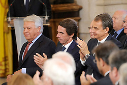 24.06.2015, Palacio Real, Madrid, ESP, Festakt zu 30 Jahre EU Mitgliedschaft Spaniens, im Bild Formers Spanish Prime Ministers Felipe Gonzalez, Jose Maria Aznar and Jose Luis Rodriguez Zapatero // attend the 30th Anniversary of Spain being part of European Communities at the Palacio Real in Madrid, Spain on 2015/06/24. EXPA Pictures © 2015, PhotoCredit: EXPA/ Alterphotos/ POOL/ Ricardo Garcia<br /> <br /> *****ATTENTION - OUT of ESP, SUI*****