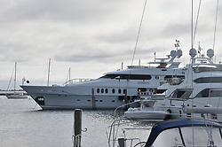 Tiger Wood's famed yacht, 'Privacy' is docked in New York's Sag Harbor ahead of the U.S. Open which is being held at Shinnecock Hills Golf Club in New York beginning on Thursday. ***NO NEW YORK DAILY NEWS, NO NEW YORK TIMES, NO NEWSDAY***. 08 Jun 2018 Pictured: Privacy. Photo credit: John Roca Photography / MEGA TheMegaAgency.com +1 888 505 6342