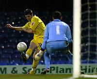 Photo: Matt Bright.<br /> Southend United v Dagenham and Redbridge. FA Cup Third Round. 05/01/2008. <br /> Ben Stevens scores to put Dagenham 2-1 up