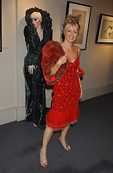 Former TV presenter ESTHER MCVEY at a private view of fashion designer Lindka Cierach's Couture Dresses drawn by Trudy Good held at the Belgravia Gallery, 45 Albemarle Street, London on 21st September 2005.<br />