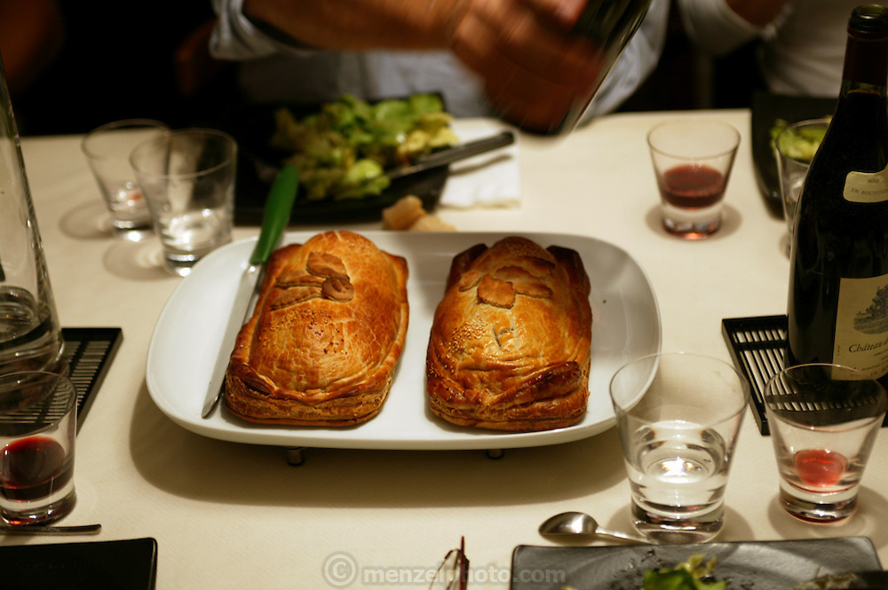 Beef en Croute, Paris, France served at a dinner party. (Supporting image from the project Hungry Planet: What the World Eats)