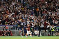 Uscita dal campo tra gli applausi del pubblico per Alessandro Florenzi Roma<br /> Roma 16-09-2015 Stadio Olimpico <br /> Football Calcio Champions League 2015/2016 <br /> Group Stage - Group E AS Roma - Barcelona / AS Roma - Barcellona <br /> Foto Luca Pagliaricci / Insidefoto