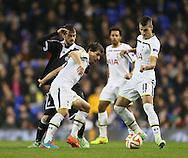 Tottenham's Benjamin Stambouli and Erik Lamela in action<br /> <br /> Europa League Group C- Tottenham vs Partizan Belgrade - White Hart Lane - England - 27th November 2014 - Picture David Klein/Sportimage