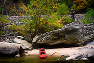 A tandem kayak trip with along the Nolichucky River. Trey enjoys the view along the Nolichucky River.