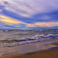 """""""Watching the Sunset""""<br /> <br /> Beautiful and peaceful sunset on the shores of Lake Michigan in the Upper Peninsula!!"""