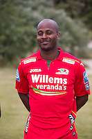 20150626 - OOSTENDE, BELGIUM: Oostende's Xavier Luissint pictured during the 2015-2016 season photo shoot of Belgian first league soccer team KV Oostende, Friday 26 June 2015 in Oostende. BELGA PHOTO KURT DESPLENTER