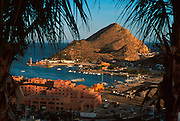 MEXICO, BAJA CALIFORNIA SOUTH Cabo San Lucas; harbor and marina with resort hotels, condos and shops