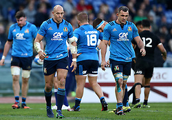 November 12, 2016 - Rome, Italy - The delusion of Sergio Parisse of the Italy Rugby at the end of the international rugby match between New Zealand and Italy at Stadio Olimpico on November 12, 2016 in Rome, Italy. (Credit Image: © Arts Culture And Entertainment/NurPhoto via ZUMA Press)