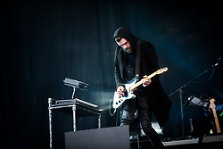 June 17, 2018 - Landgraaf, Limburg, Netherlands - Justin Lockey of Editors performing live at Pinkpop Festival 2018 in Landgraaf, Netherlands, on 17 June 2018. (Credit Image: © Roberto Finizio/NurPhoto via ZUMA Press)