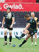 Rugby Union - 2016 / 2017 Guinness Pro12 - Ospreys vs. Ulster<br /> <br /> Dan Biggar of Ospreys kicks a conversion, at Liberty Stadium.<br /> <br /> COLORSPORT/WINSTON BYNORTH
