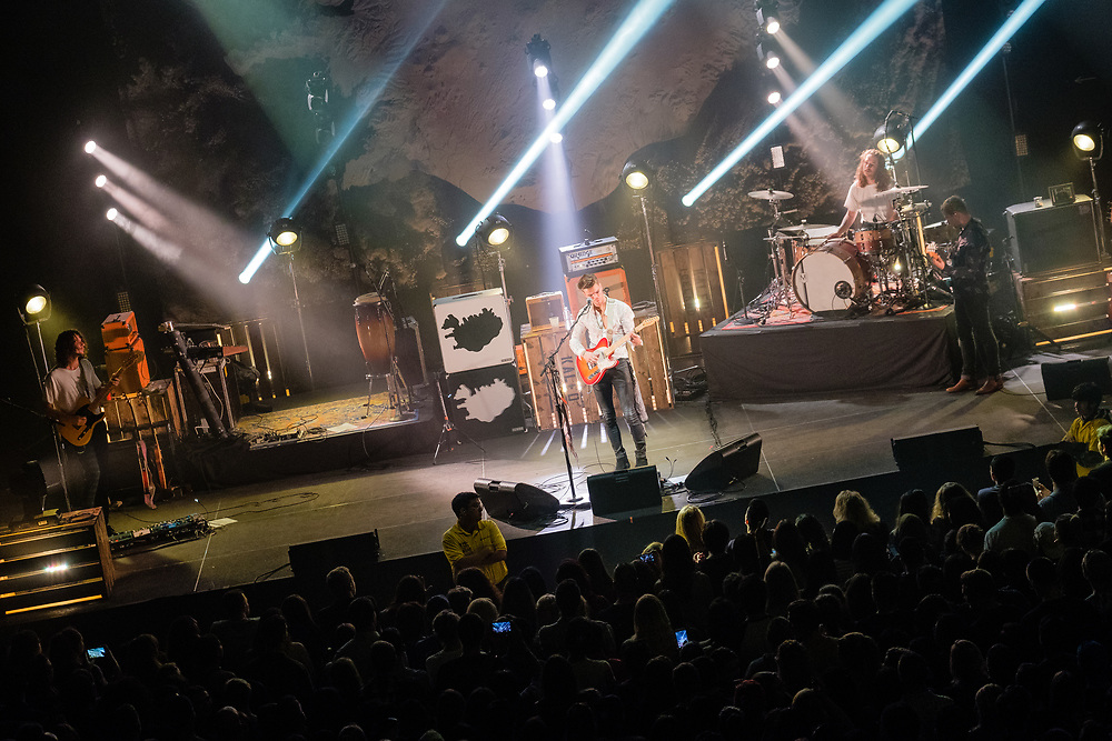 """Photos of the Icelandic band Kaleo performing live on the """"Kaleo Express Tour - Fall 2017"""" at Hammerstein Ballroom, NYC on October 21, 2017. © Matthew Eisman. All Rights Reserved"""