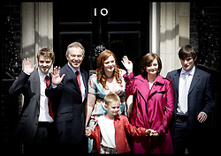 Tony Blair and his wife Cherie and their family   leave Downing st  as he stands down as PM.PRESS ASSOCIATION Photo. Picture date:Wednesday 27th June  , 2007. Photo credit should read: Andrew Parsons/PA.
