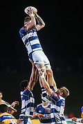 Auckland player Scott Scrafton gets up for the ball against Bay of Plenty  during the Mitre 10 Cup match played at Rotorua International Stadium in Rotorua on Friday 2nd October 2020.<br /> Copyright photo: Alan Gibson / www.photosport.nz