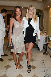 Left to right, SASHA VOLKOVA and MEREDITH OSTROM at an evening of Dinner & Dancing at Daphne's, 112 Draycott Avenue, London SW3 on 24th July 2013.