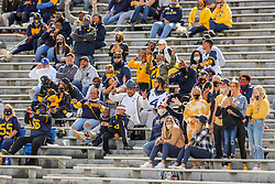 Oct 3, 2020; Morgantown, West Virginia, USA; West Virginia Mountaineers fans cheer during the third quarter against the Baylor Bears at Mountaineer Field at Milan Puskar Stadium. Mandatory Credit: Ben Queen-USA TODAY Sports