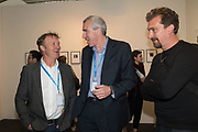 HARRY CORY WRIGHT; FRANCIS HODGSON; MIKE TROW, Opening of Photo London, 2018. Somerset House. London. 16 May 2018