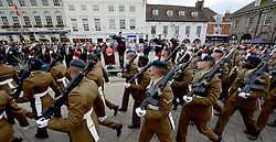 © Licensed to London News Pictures. 06/06/14 .Warwick. Country. 2nd Bn Royal Regt of Fusiliers Freedom of the City of Warwick. Today the 2nd Bn Royal Regt of Fusiliers were given Freedom of the City of Warwick. It marked an important day for the Regt as it would be the last time the Regt paraded in public together.. Photo credit : Sgt Russ Nolan/LNP
