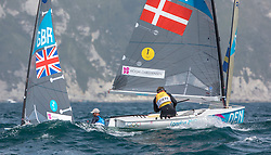 03.08.2012, Bucht von Weymouth, GBR, Olympia 2012, Segeln, im Bild Hoegh-Christensen Jonas, (DEN, Finn).Ainslie Ben, (GBR, Finn) // during Sailing, at the 2012 Summer Olympics at Bay of Weymouth, United Kingdom on 2012/08/03. EXPA Pictures © 2012, PhotoCredit: EXPA/ Daniel Forster ***** ATTENTION for AUT, CRO, GER, FIN, NOR, NED, POL, SLO and SWE ONLY!